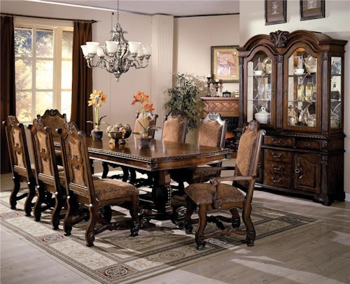 Crown Mark Neo Renaissance Formal Dining Room Group