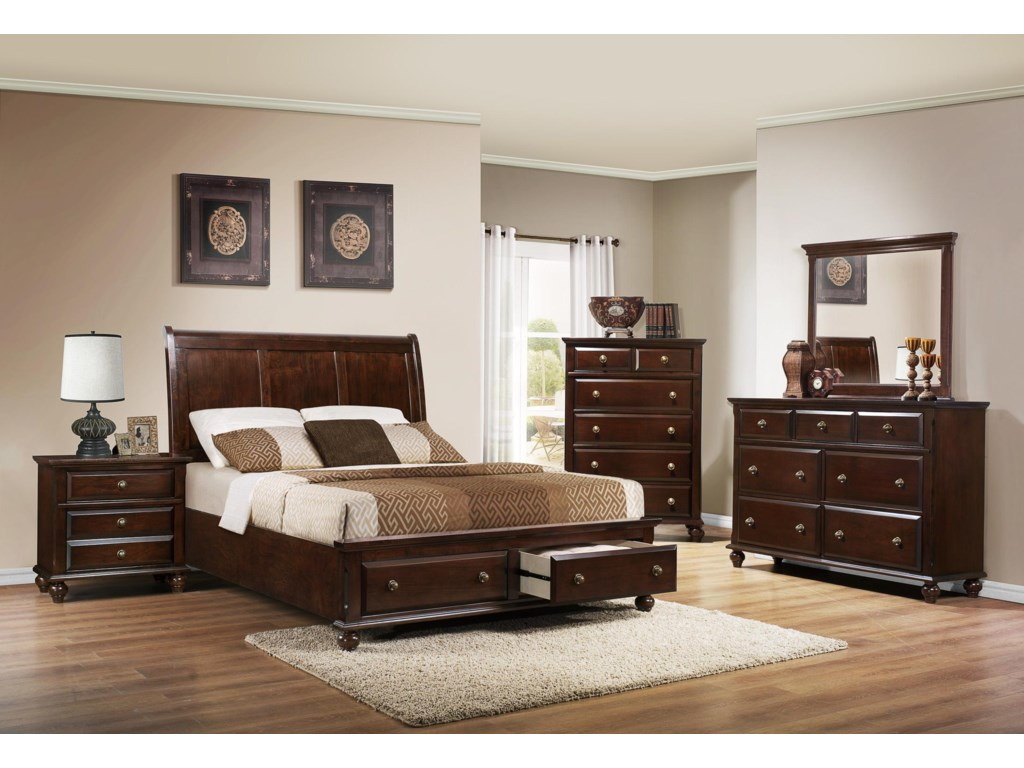 Crown Mark Portsmouth B6075Queen Bedroom Group