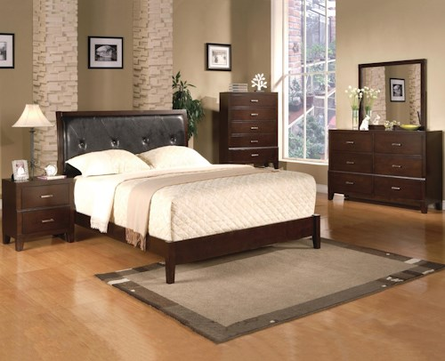 Crown Mark Serena King Bedroom Group