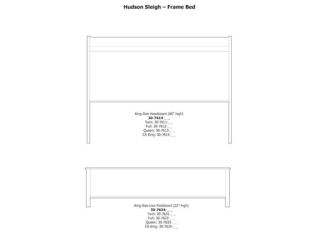 Daniel's Amish HudsonKing Sleigh Frame Bed