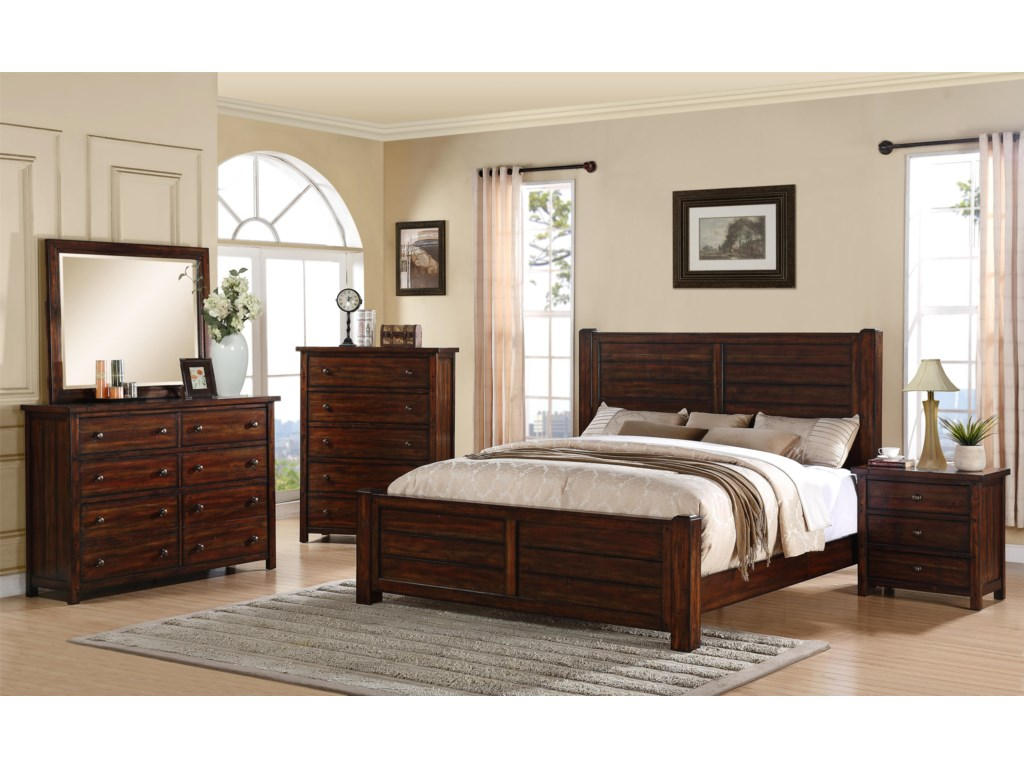 Elements International Dawson CreekKing Bedroom Group