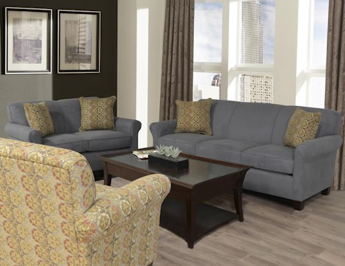 England Angie Stationary Living Room Group   Howell Furniture ...