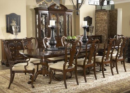 Fine Dining Room Tables: Fine Furniture Design American Cherry Formal Dining Room Group