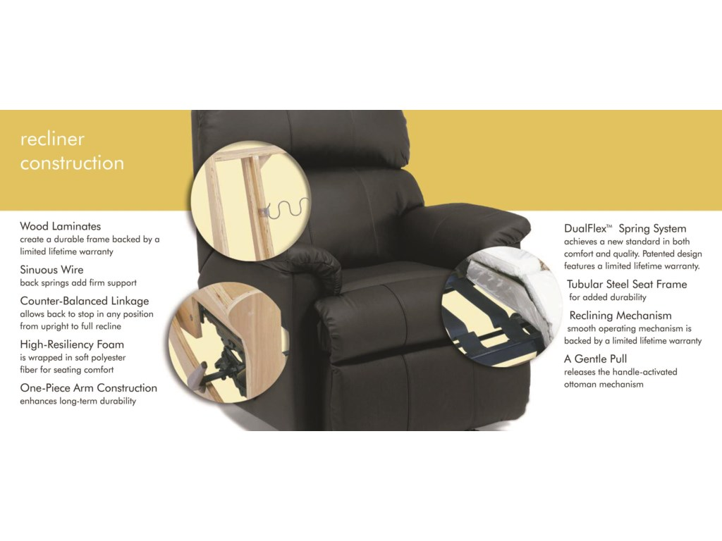Flexsteel AbbyPower High-Leg Recliner with Power Headrests