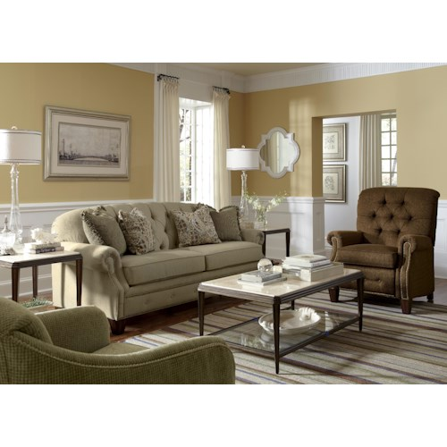 Flexsteel Champion Stationary Fabric Living Room Group