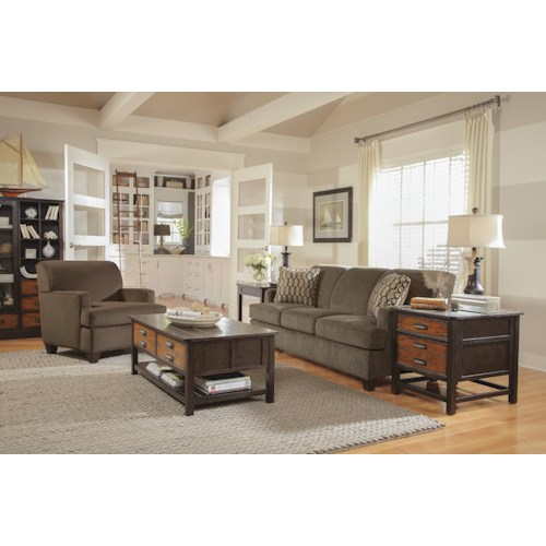 Flexsteel Dempsey Stationary Living Room Group