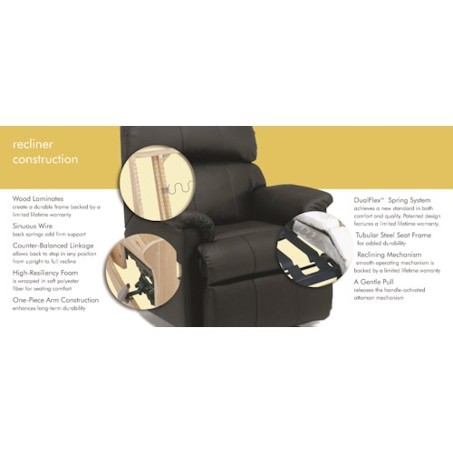 Flexsteel Latitudes-Nance Casual Power Gliding Recliner with Power Headrest and USB Port