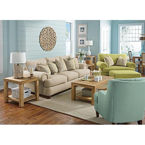 Flexsteel Patterson  Stationary Living Room Group