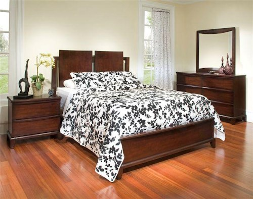 Folio 21 Continental 4 Piece Queen Group with Nightstand