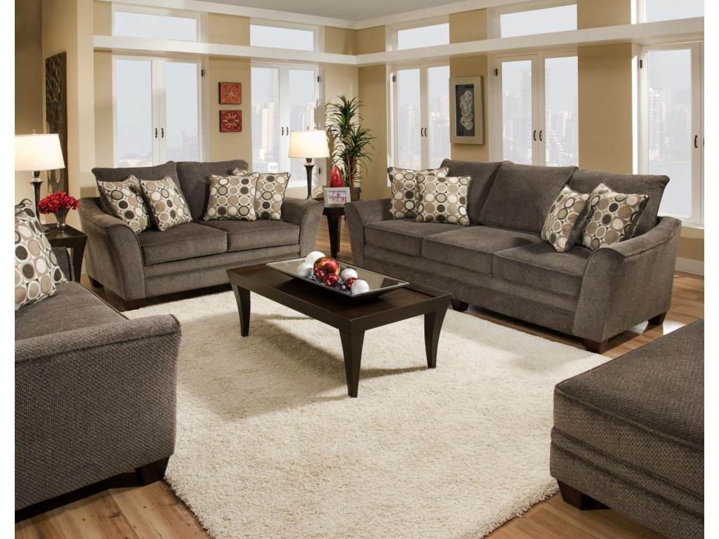 Franklin 811 AbbotStationary Living Room Group