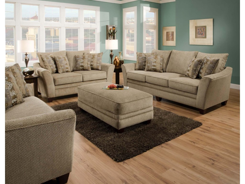 Franklin 811 AshlandStationary Living Room Group