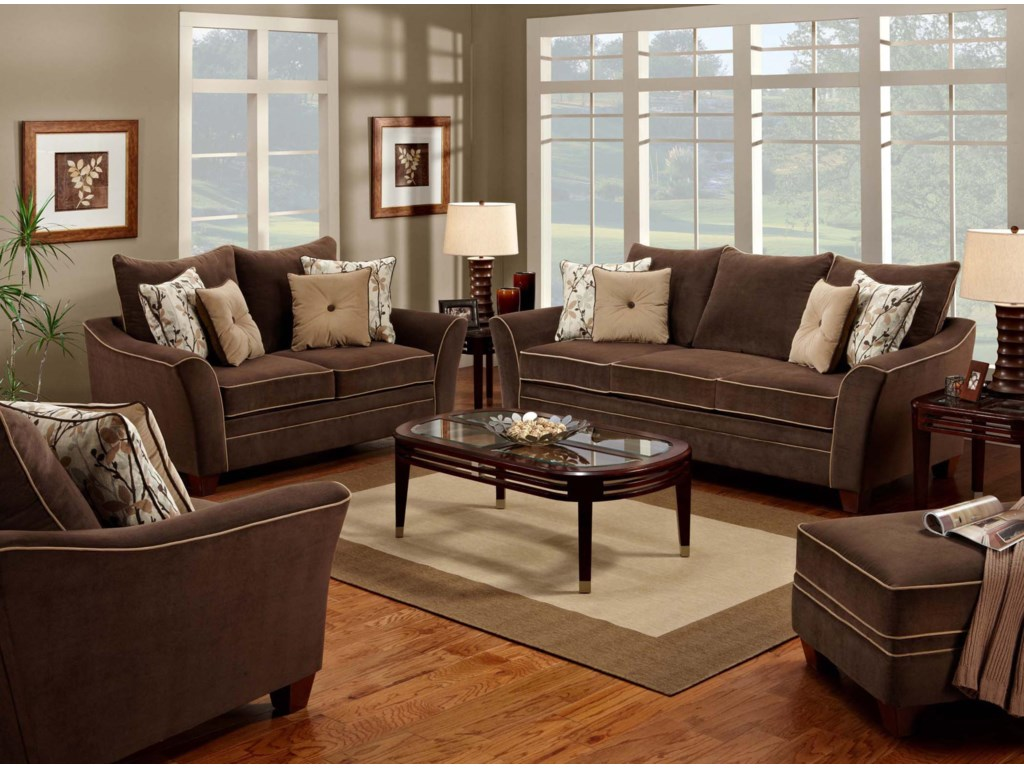 Franklin 811 BridgeportStationary Living Room Group