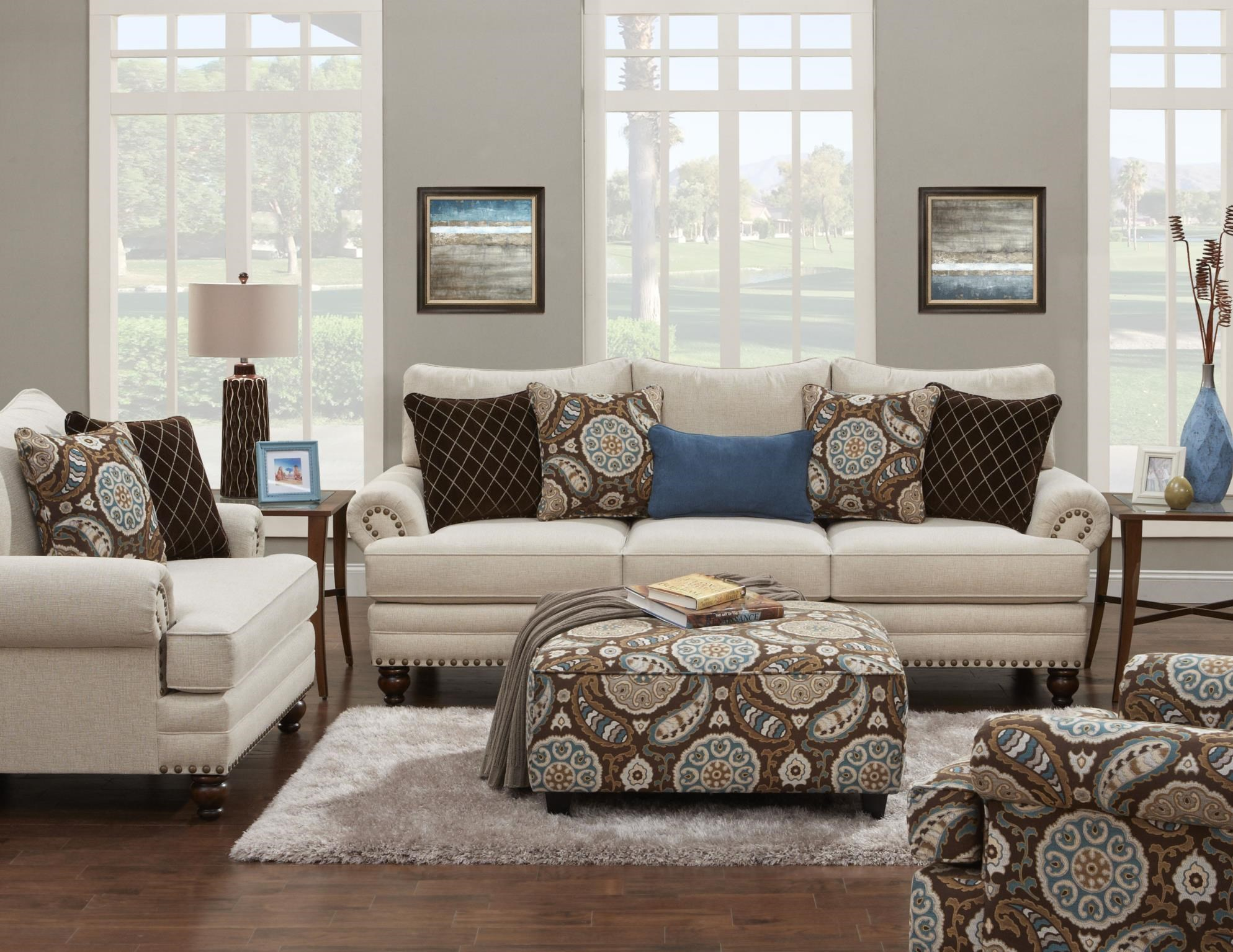 Beau Fusion Furniture 2820 Stationary Living Room Group