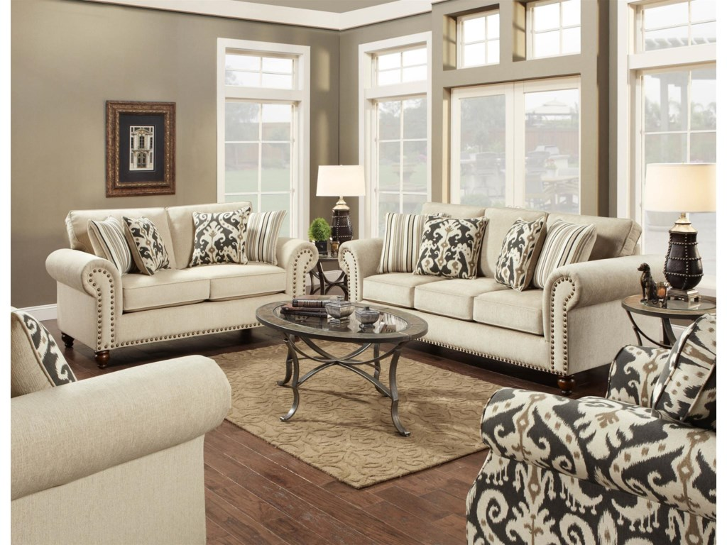 Fusion Furniture 3110Stationary Living Room Group