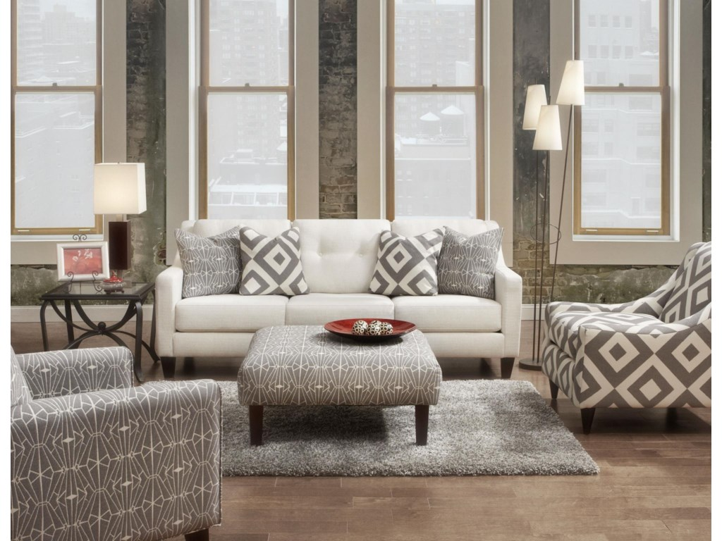 Fusion Furniture Evening StoneStationary Living Room Group