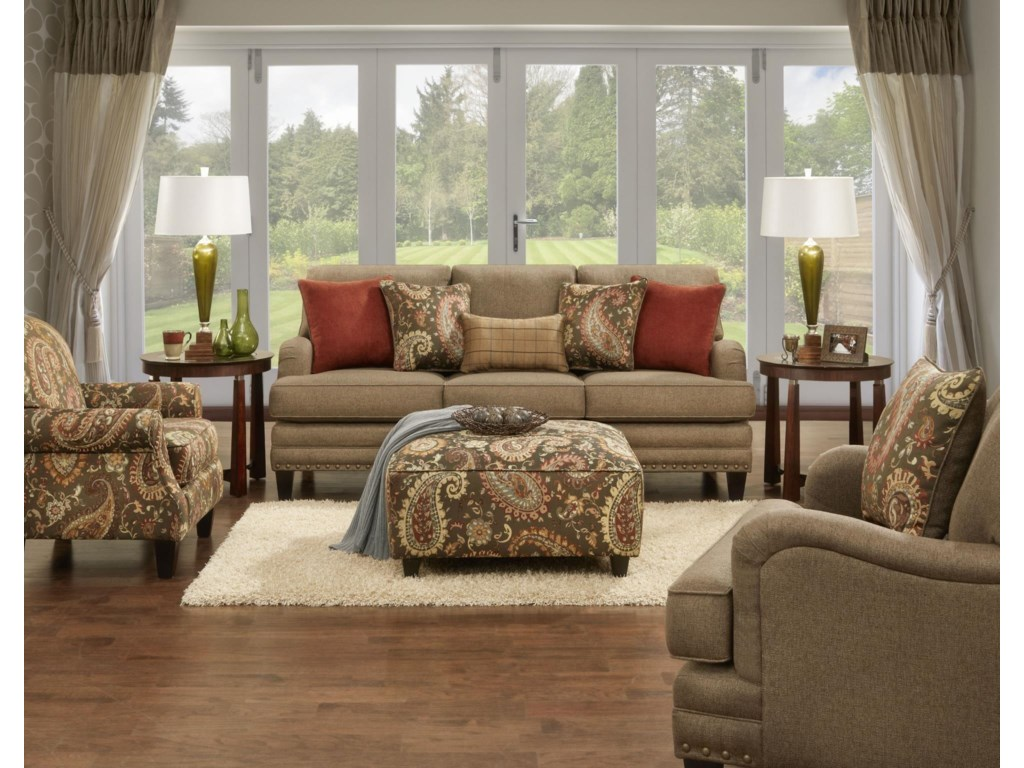 Fusion Furniture 5960Stationary Living Room Group