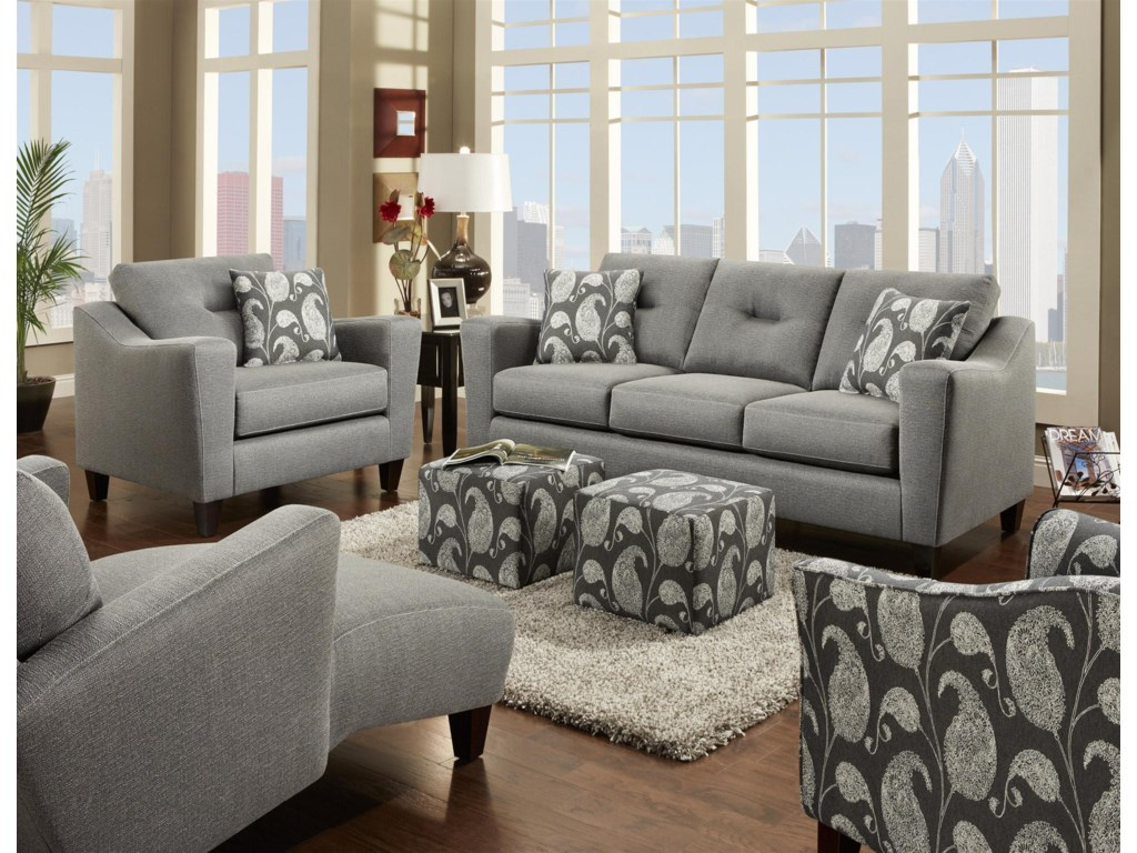 Fusion Furniture BodieStationary Living Room Group