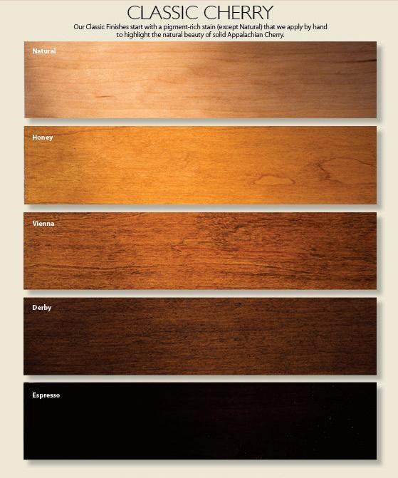 Choose From a Variety of Wood Finish and Paint Options