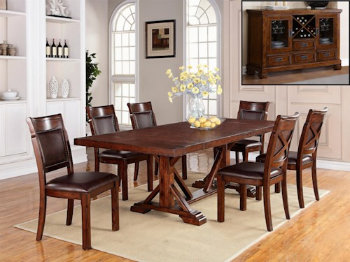 Warehouse M Adirondack Casual Dining Room Group
