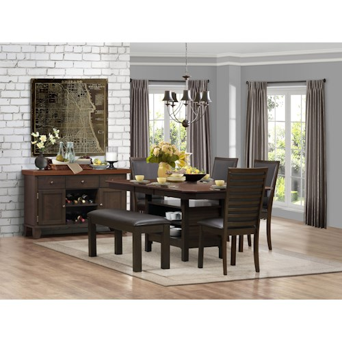 Homelegance Corliss Casual Dining Room Group