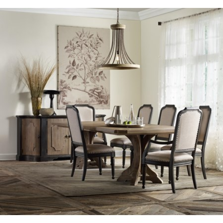Formal Dining Room Group with Credenza