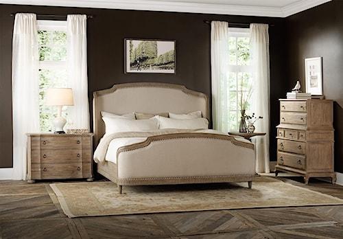 Hooker Furniture Corsica Queen Shelter Bedroom Group