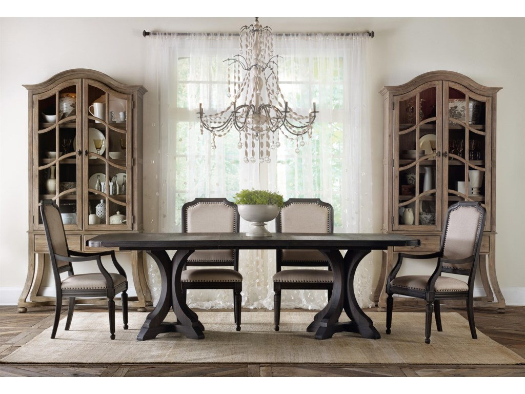 Hooker Furniture CorsicaFormal Dining Room Group with Display Cabine