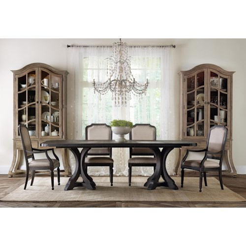 Hooker Furniture Corsica Formal Dining Room Group with Display Cabinets
