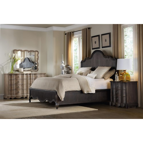 Hooker Furniture Corsica King Panel Bedroom Group