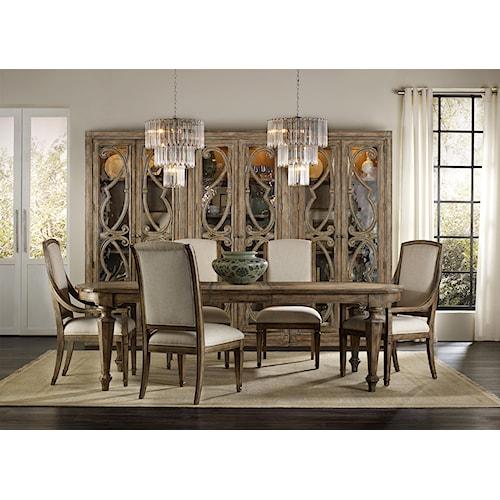 Hooker Furniture Solana Formal Dining Room Group