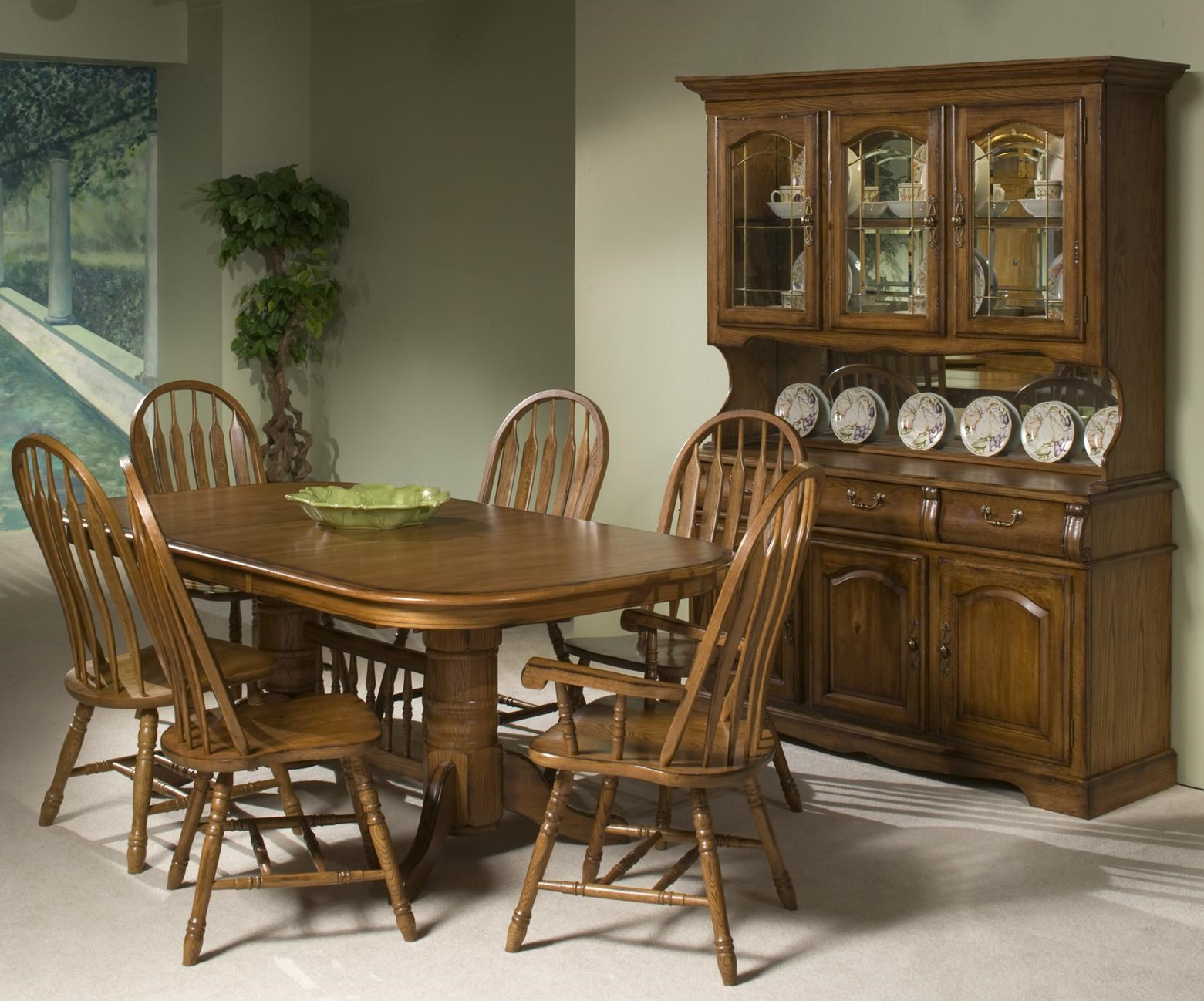 Classic Oak Formal Dining Room Group By VFM Signature