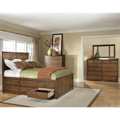 Intercon Oak Park California King Bedroom Group