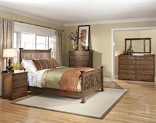 Intercon Oak Park Queen Bedroom Group