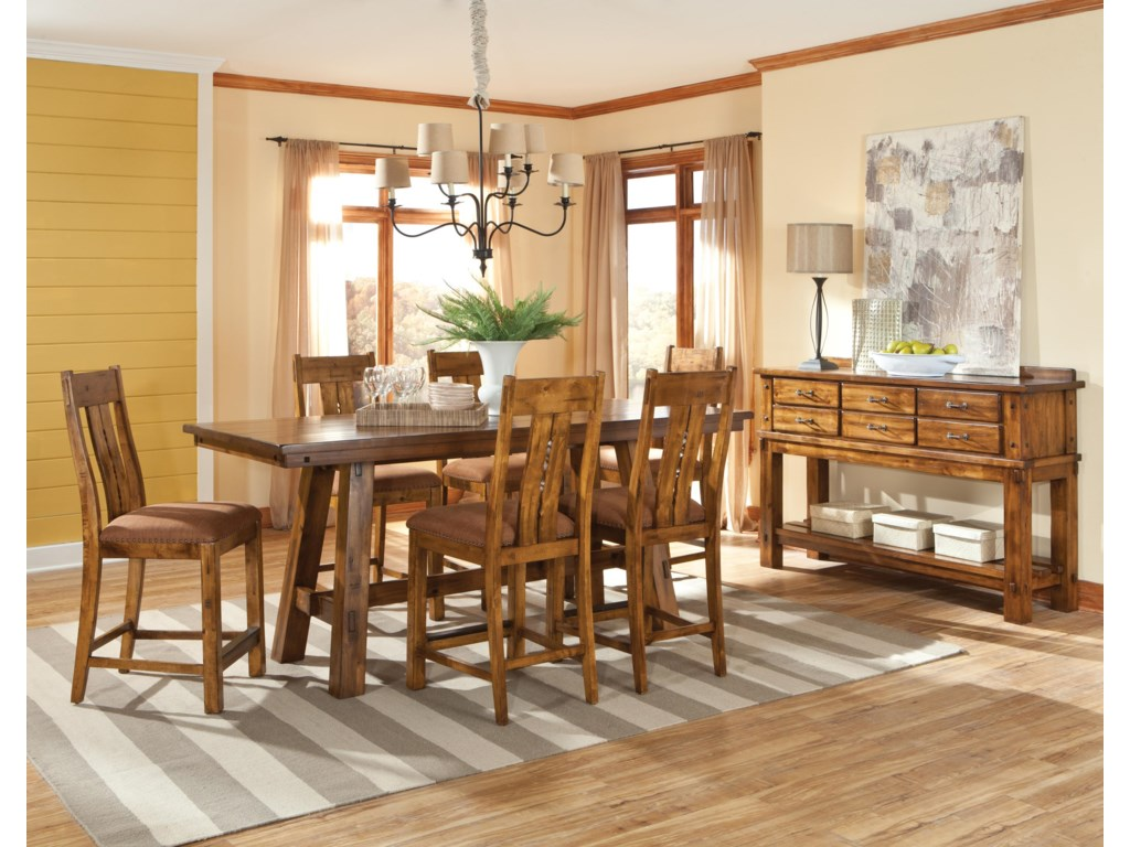 Intercon Timberline Casual Dining Room Group | Hudson\'s Furniture ...