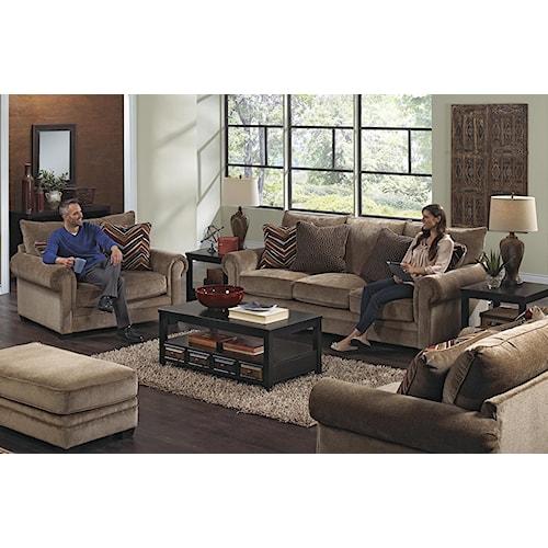 Jackson Furniture Anniston Stationary Living Room Group