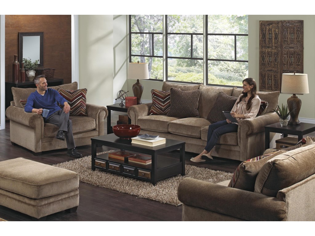 Jackson Furniture Anniston Stationary Living Room Group | Miskelly ...