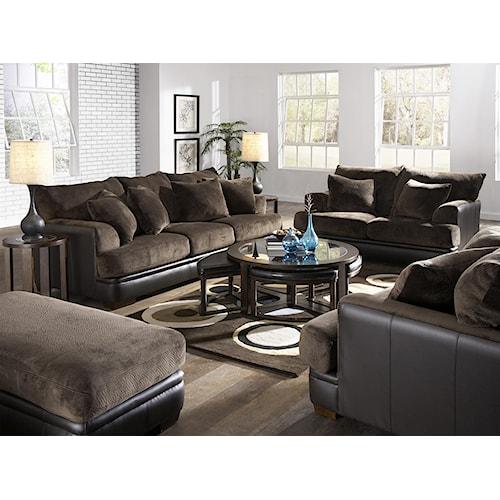 Jackson Furniture Barkley  Stationary Living Room Group