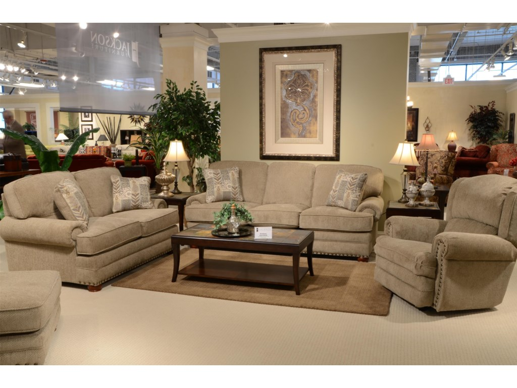Braddock Stationary Living Room Group By Jackson Furniture At Efo Furniture Outlet