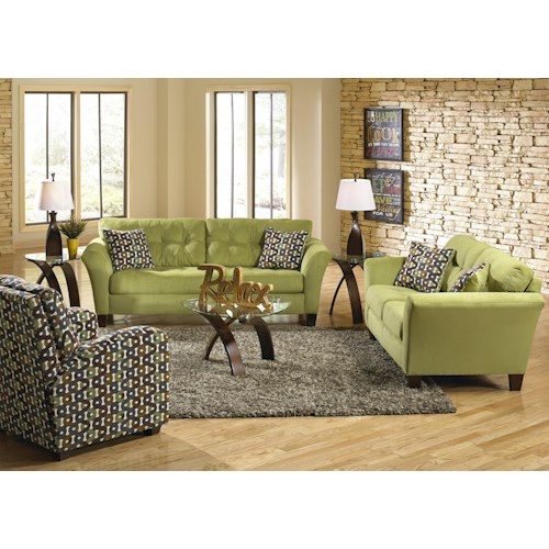 Jackson Furniture Halle Stationary Living Room Group