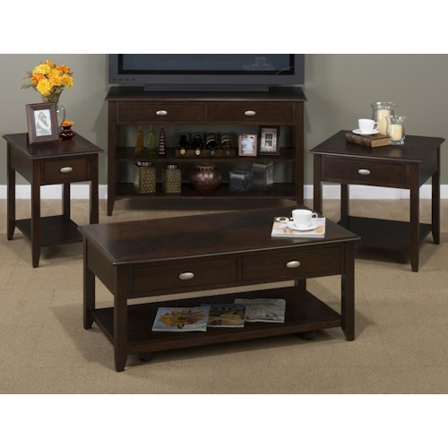 Jofran Merlot Occasional Table Group