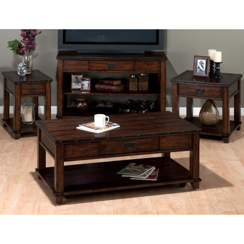 Jofran Cassidy Brown Occasional Table Group