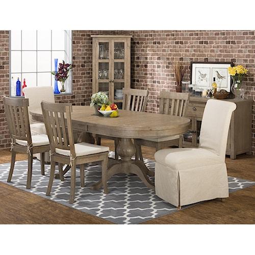 Jofran Bancroft Mills Casual Dining Room Group