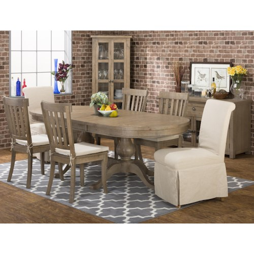 Jofran Slater Mill Pine Casual Dining Room Group