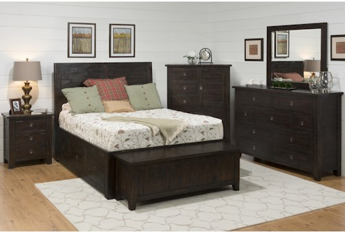 Jofran Kona Grove Queen Bedroom Group