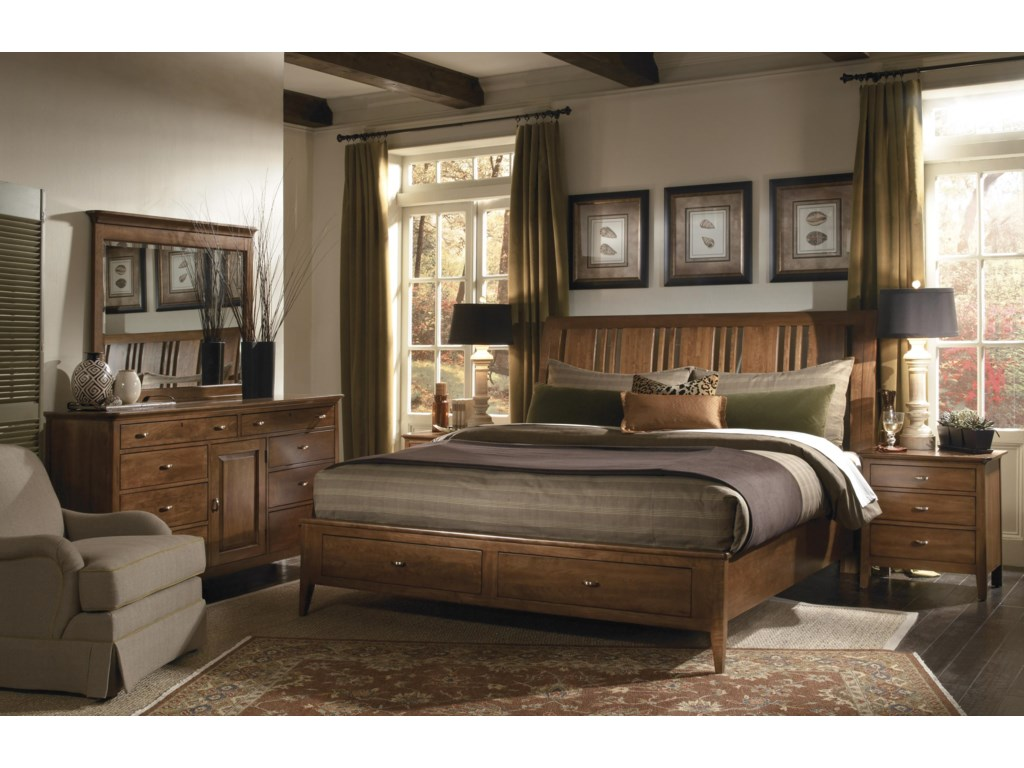 Kincaid Furniture Cherry ParkQueen Bedroom Group