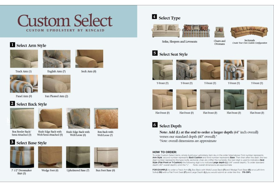 separation shoes df0eb 635b5 Kincaid Furniture Custom Select Upholstery Custom 2-Piece ...