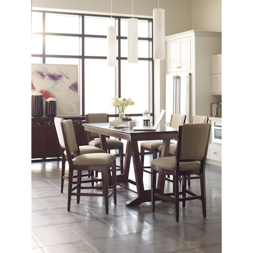 Kincaid Furniture Elise Casual Dining Room Group with Counter Height Tables
