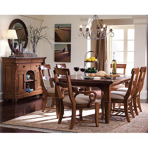 Kincaid Furniture Tuscano Formal Dining Room Group