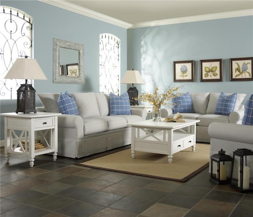 Klaussner brook stationary living room group efo for Klaus k living room brunssi