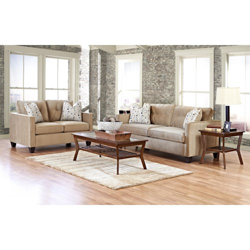 Klaussner Brower 943 Stationary Living Room Group